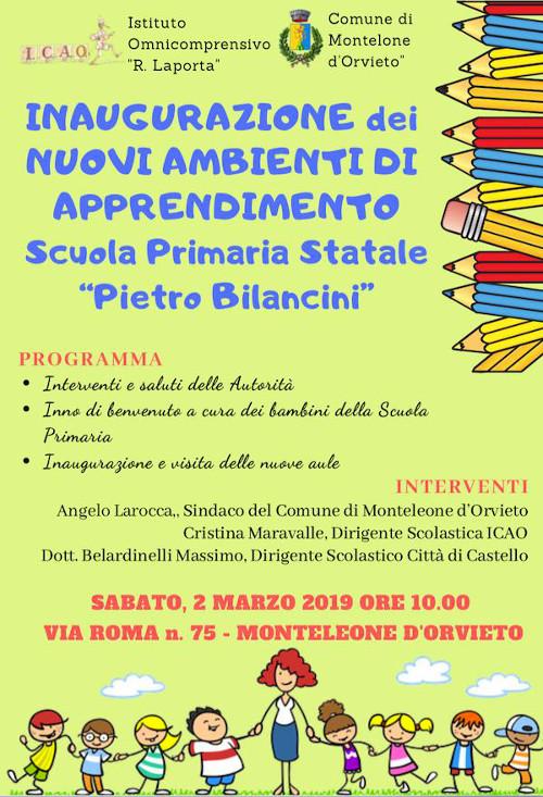 Inaugurazione nuovi ambienti di apprendimento scuola primaria Monteleone