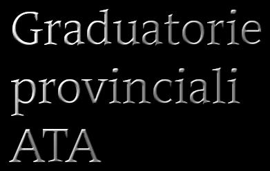 graduatorie provinciali ata